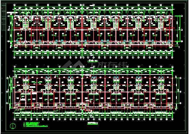 连体别墅楼全套建筑施工cad设计方案图纸