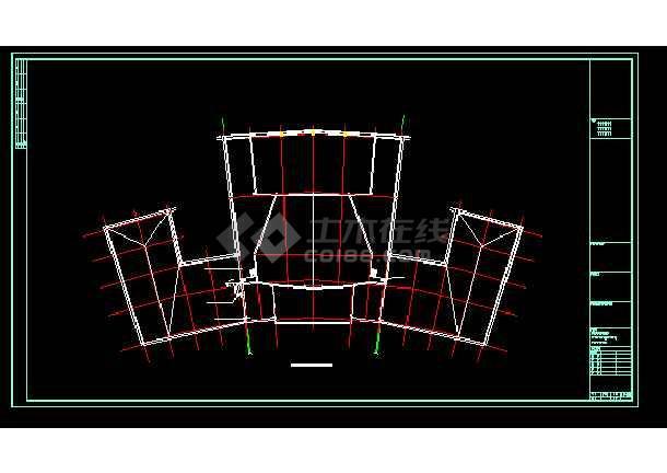 永定区区治文化馆建筑施工cad设计方案图纸-图2