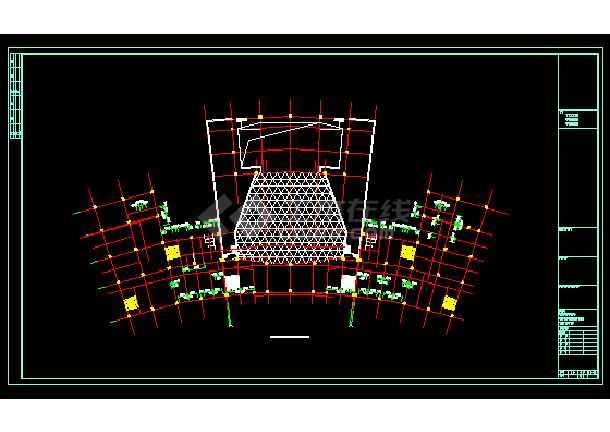 永定区区治文化馆建筑施工cad设计方案图纸-图3