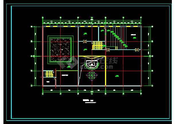 城市展览馆建筑结构施工设计方案详图-图1