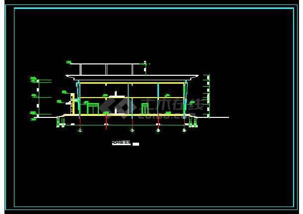 城市展览馆建筑结构施工设计方案详图-图2