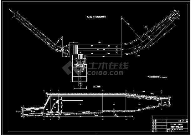 某电站厂cad施工设计平面施工图纸-图1