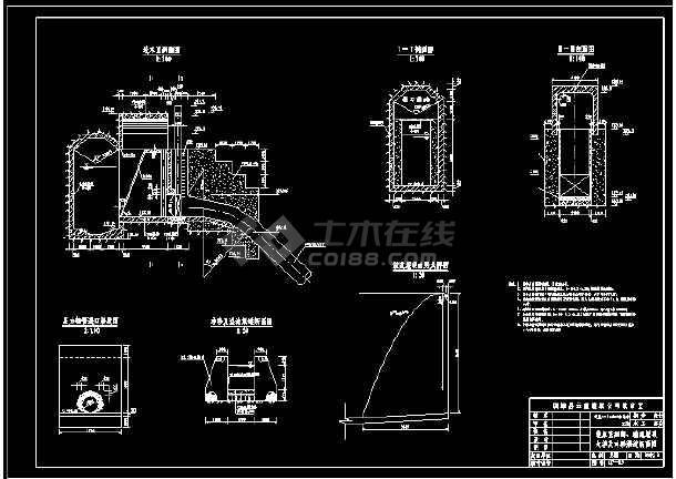 某电站厂cad施工设计平面施工图纸-图2
