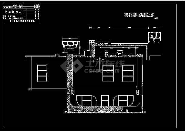 某电站厂cad施工设计平面施工图纸-图3