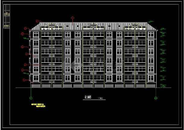 某小区六层住宅楼的cad平面设计建筑图建筑设计院分院花都图片