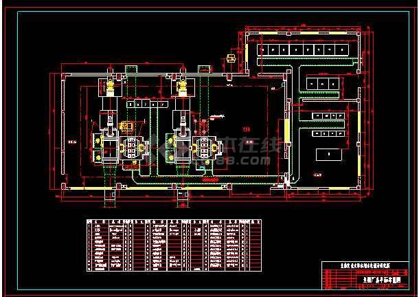 某城市电站厂房整套cad设计施工图纸(内含设计说明)-图1