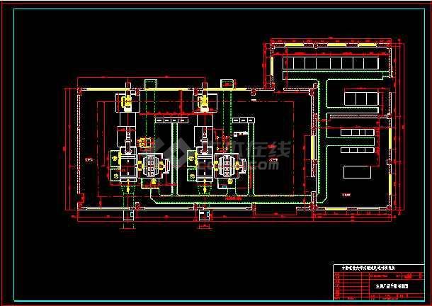 某城市电站厂房整套cad设计施工图纸(内含设计说明)-图2
