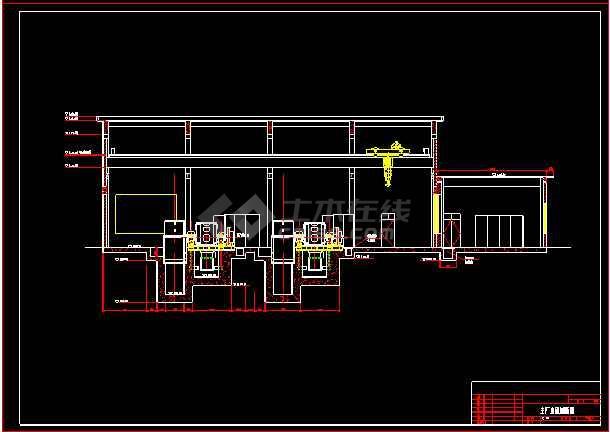 某城市电站厂房整套cad设计施工图纸(内含设计说明)-图3