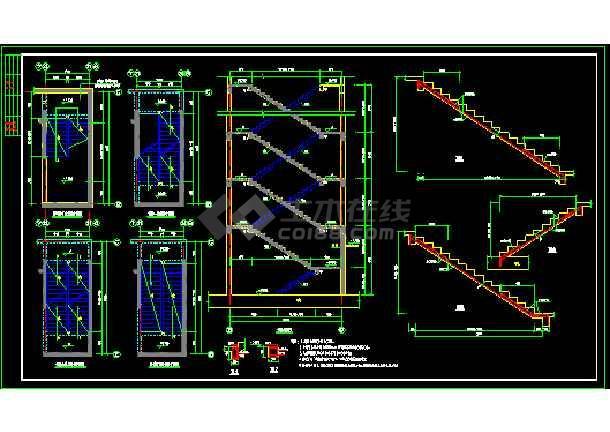 抗震级别高层剪力墙cad结构图纸-图1