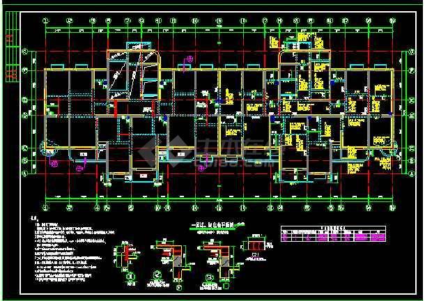 抗震级别高层剪力墙cad结构图纸-图2