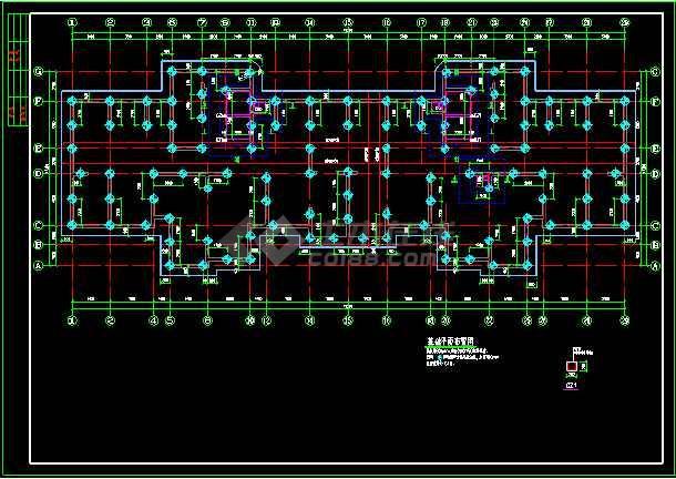 抗震级别高层剪力墙cad结构图纸-图3