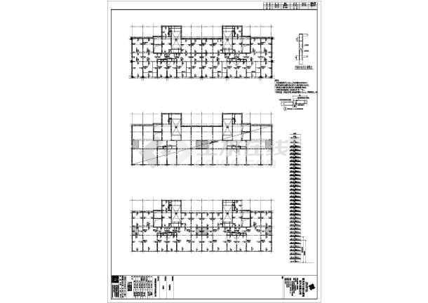 赤峰市某32层剪力墙住宅结构设计CAD图-图2