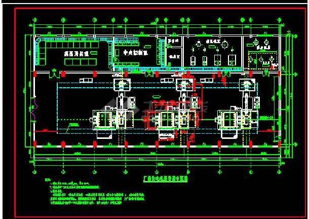 某城市高水头水电站厂房施工设计建筑图纸-图1