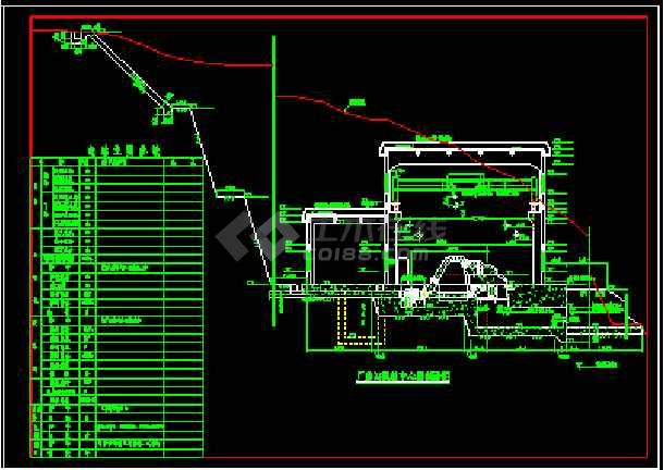 某城市高水头水电站厂房施工设计建筑图纸-图2