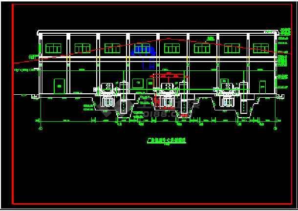 某城市高水头水电站厂房施工设计建筑图纸-图3