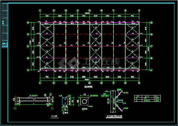 某24m跨门式刚架轻型房屋钢结构厂房整套cad设计施工图-图2