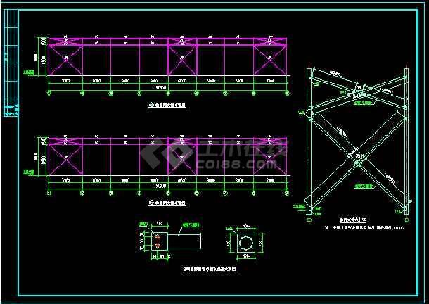 某24m跨门式刚架轻型房屋钢结构厂房整套cad设计施工图-图3