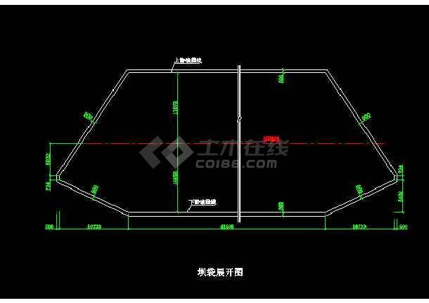 贵州xx橡胶坝施工cad图纸设计-图2