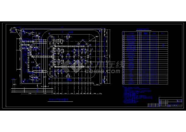 某市变电站基础设备cad施工方案图(内含设计说明)-图3