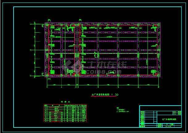 某城市电站厂房全套配筋cad施工图-图3