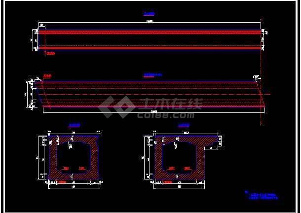 某16m先张法预应力混凝土桥板cad结构图纸-图1