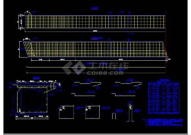 某16m先张法预应力混凝土桥板cad结构图纸-图2