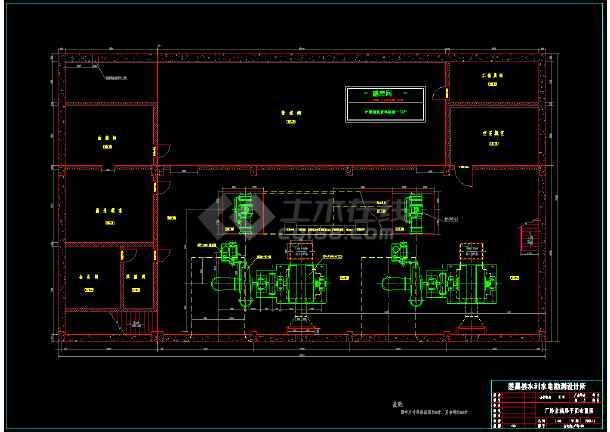 某城市电站厂房综合整套cad设计图-图1