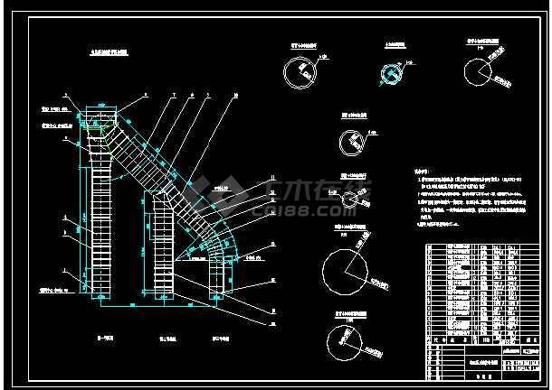 某电站中钢岔管段金结构cad设计建筑图纸-图1