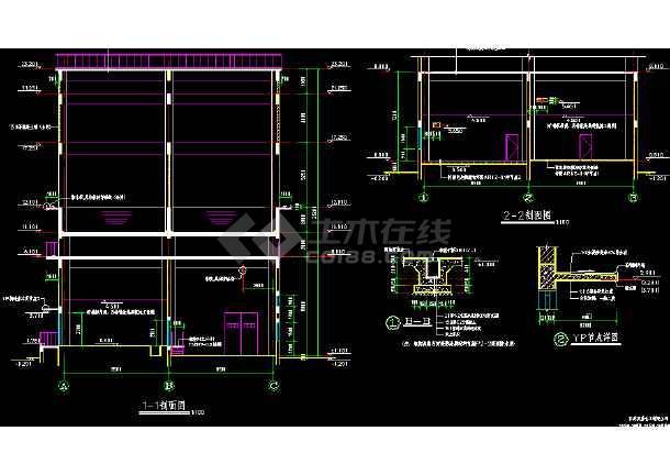 某市合成循环水装置cad详细设计图纸-图3
