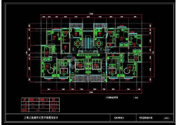 小区住宅的cad平面设计户型图集
