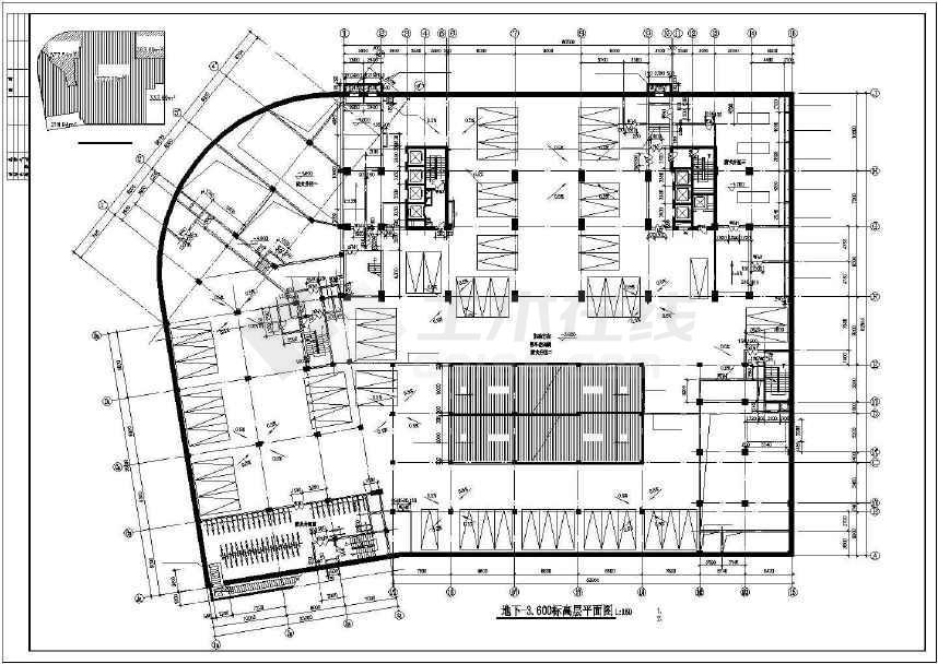 某大型酒店全套建筑施工图纸(标注详细)