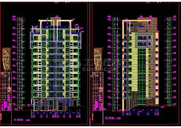 某市区某图纸小高层住宅楼设计CAD图纸cad后切换小区没有图片