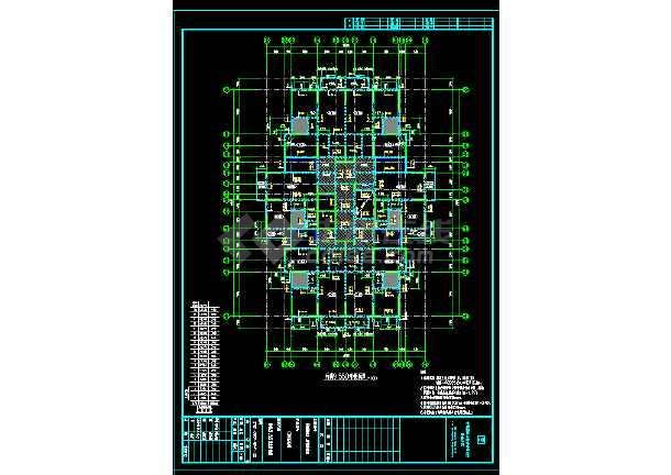 高层住宅楼详细结构cad设计大样施工图-图2