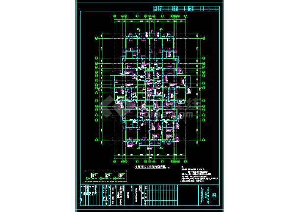 高层住宅楼详细结构cad设计大样施工图-图3