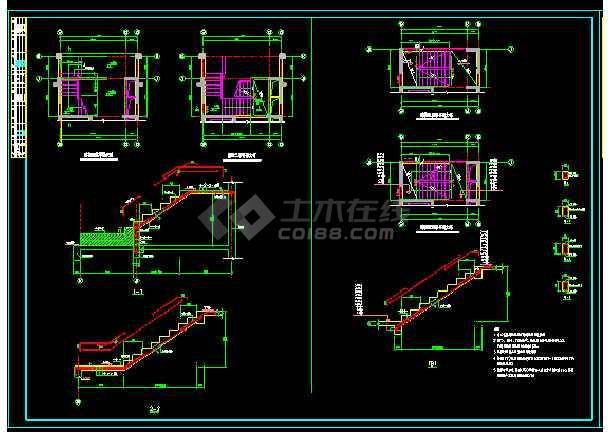 纯剪力墙结构住宅楼全套cad施工设计图纸-图3