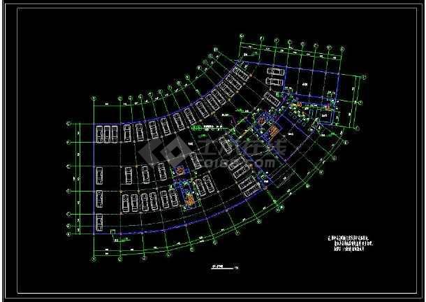 凯悦宾馆的cad平面设计建筑平面图(含设计说明)