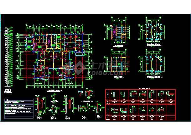 某市26层塔楼住宅结构整套cad设计施工图-图1