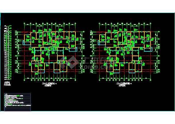 某市26层塔楼住宅结构整套cad设计施工图-图2