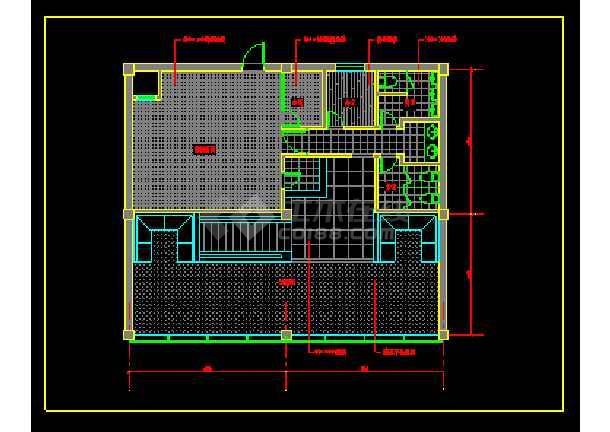 餐馆室内装修cad平面施工图,内含室内家具布置图,内容详实可供设计师