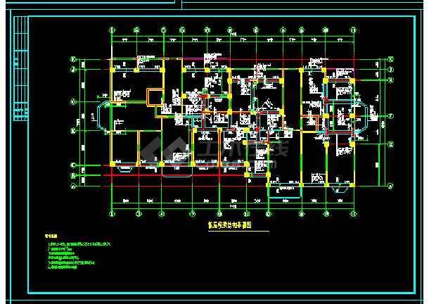 剪力墙结构小高层住宅楼建筑工程cad施工设计图-图3