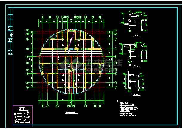 19层楼纯剪结构住宅楼cad施工设计建筑工程图-图1