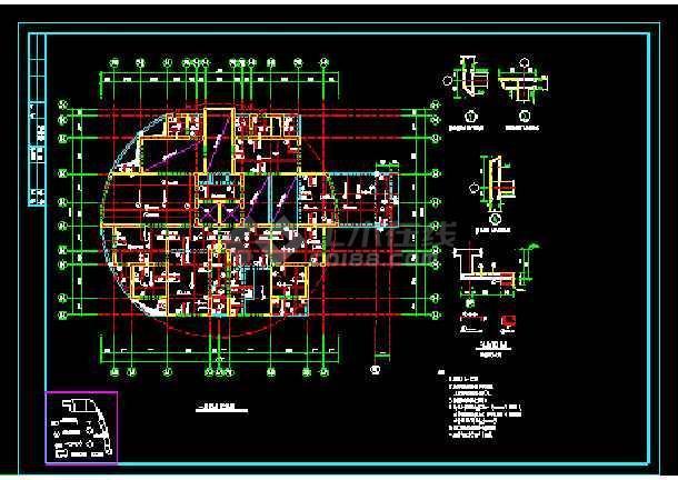 19层楼纯剪结构住宅楼cad施工设计建筑工程图-图2