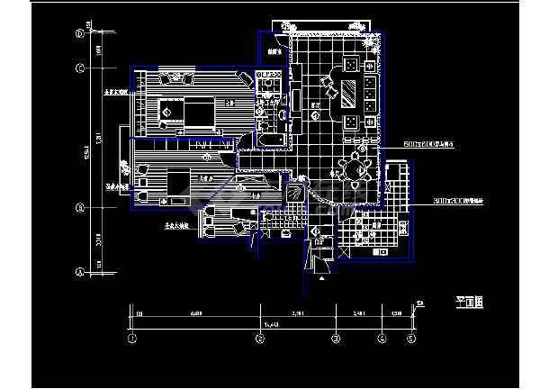 平面室内装修图纸cad方案v平面住宅小型图纸建筑层6住宅图片