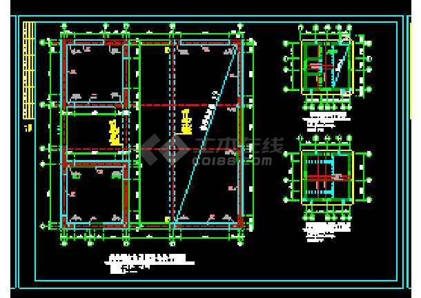 剪力墙结构住宅楼cad施工工程设计图纸-图1