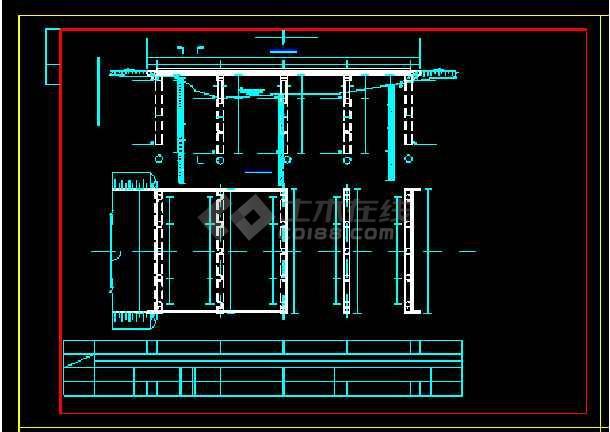 预应力空心板桥梁结构cad施工设计样图-图1