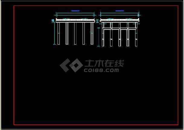 预应力空心板桥梁结构cad施工设计样图-图2