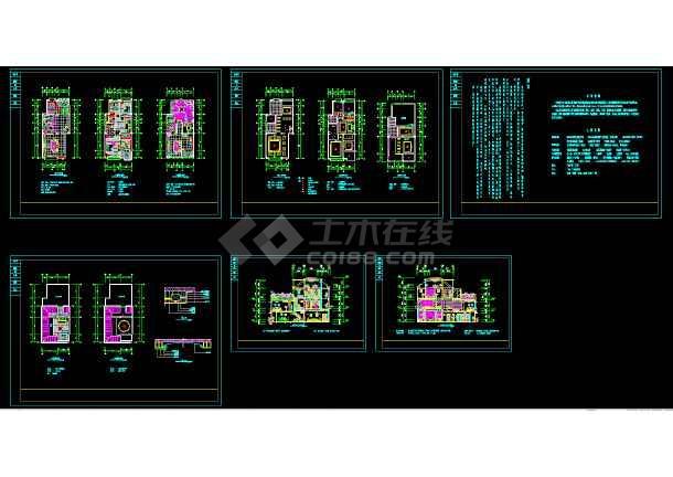 三层带露台花园别墅设计装修cad平立剖面施工位6cad序列号图片