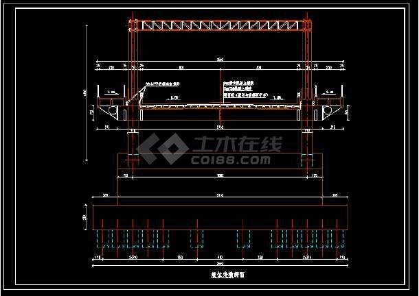 整套中承式拱桥整套建筑设计cad施工方案图-图2