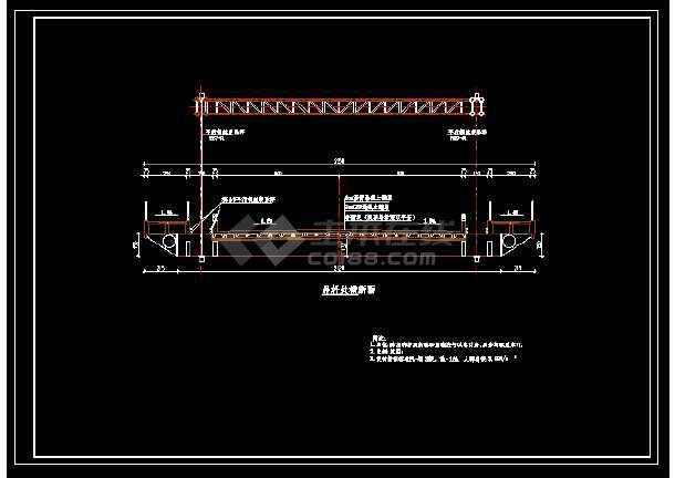 整套中承式拱桥整套建筑设计cad施工方案图-图3
