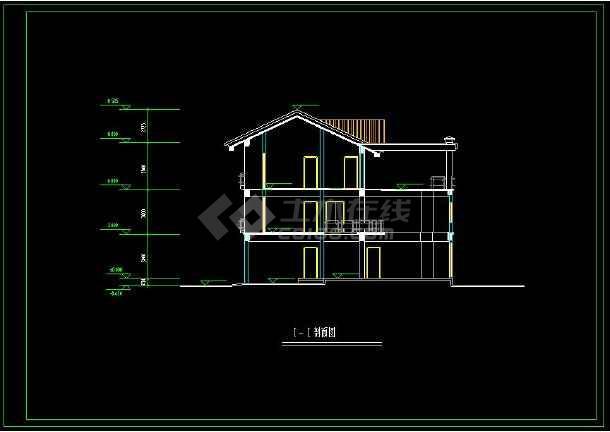 别墅的cad平面设计平立剖建筑图